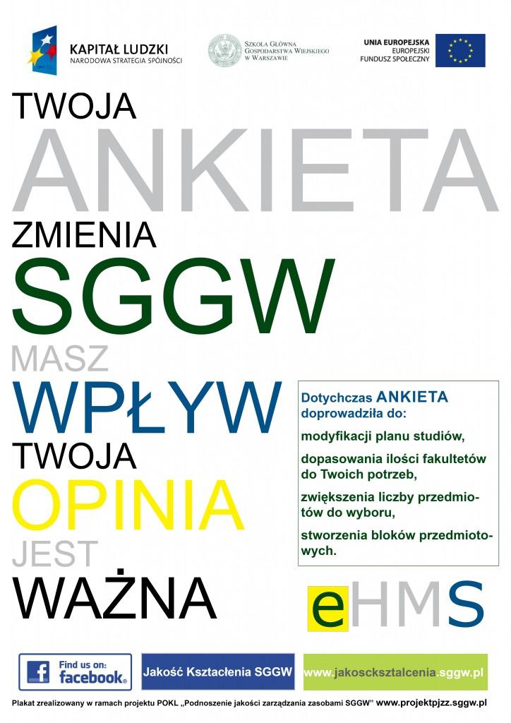 Plakat - studencka ocena zajęć